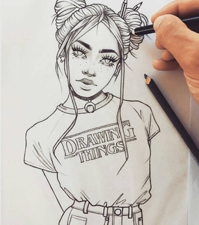 girl drawing, artist and drawing tumblr