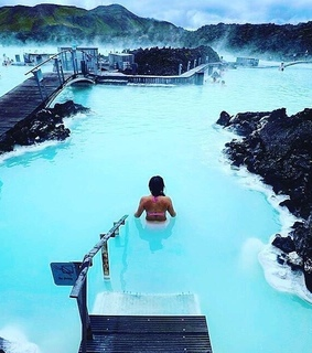 blue lagoon, winter and iceland