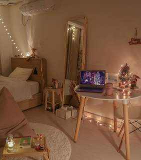 room, new year and house