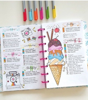 diary, journal and ideas