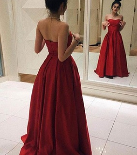 prom dress red, simple prom dress and prom dress long