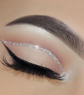 makeup, eye and silver