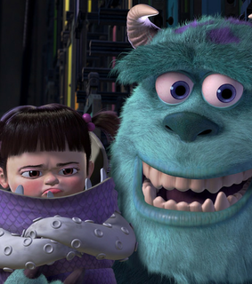 monsters inc, sully and boo and sully