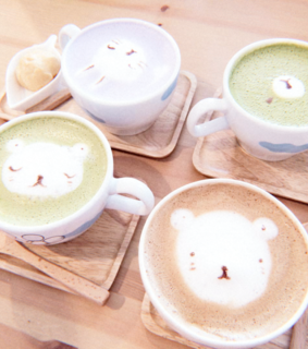 sweet, pastel color and korean coffee