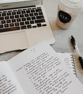 notes, apple and diary