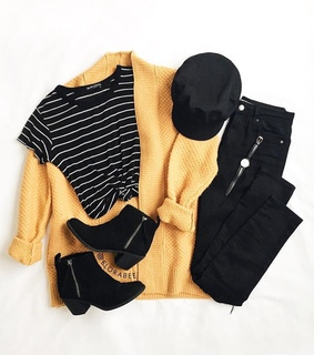 inspiration, stripped top and black boots