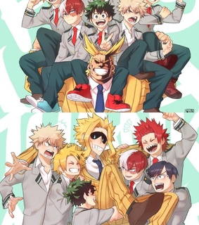 hero academia, bnha and kaminari denki