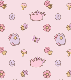 background, wallpaper and pusheen wallpaper