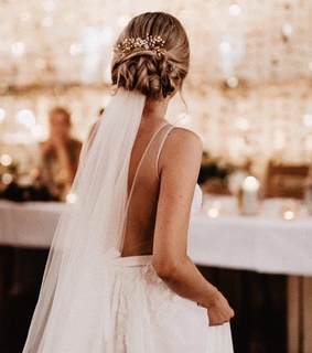 braided hair, gown and beauty