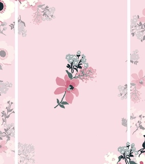 love pink, flowers and pattern