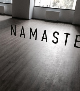 room, namaste and words
