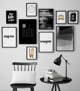 gallery wall, wall art and home decor