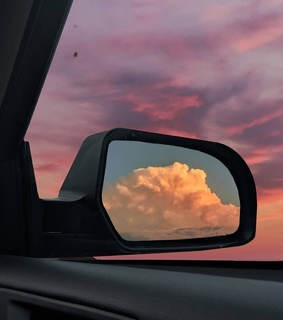 clouds, pink and sky