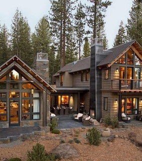 mountain living, hybrid house and log cabin