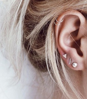 lobe, helix and dainty