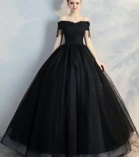 long, ball gown and prom