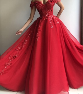 beautiful, rich and evening dress
