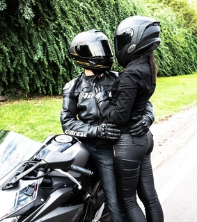 biker, couple and sexy