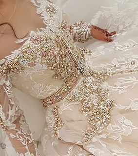 caftan, mariage and white