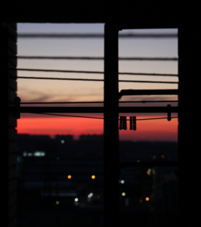 bokeh, clothespin and sunrise