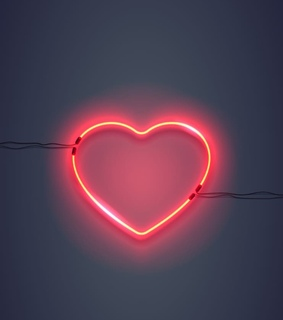 neon heart background, wallpaper and heart background