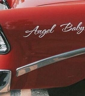 red car, vintage and baby
