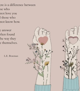flowers, heart and words