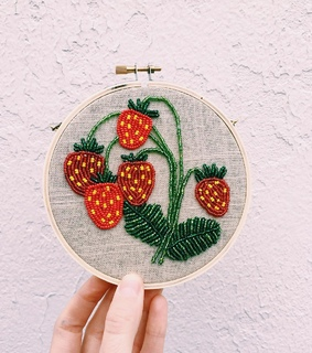 sewing, strawberry and tessa perlow