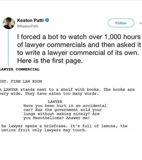 funny, bot and text post
