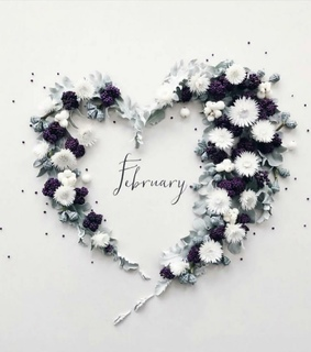 month of love, valentines day and snow