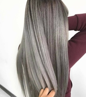 hair, silver and gray