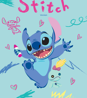sketches, stitch and crayon