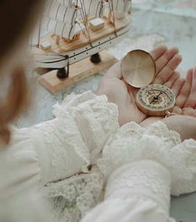 tumblr, lace and compass