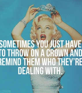 woman, crown and marilyn monroe quote