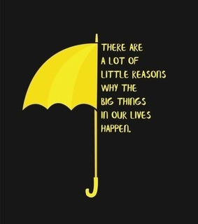 himym, how i met your mother and yellow umbrella