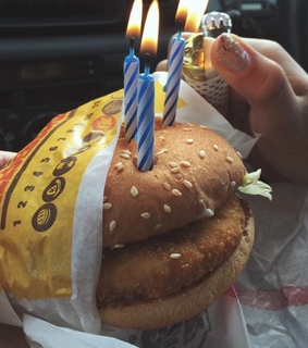 burger, friends and not my pic
