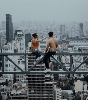 great view, toits and city life