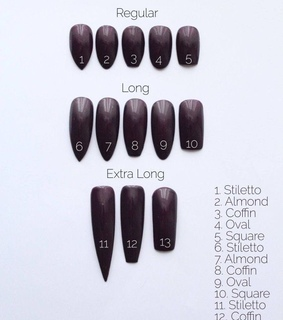 nails, shapes and guide