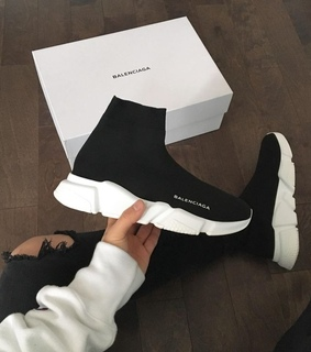 white, black and trainer