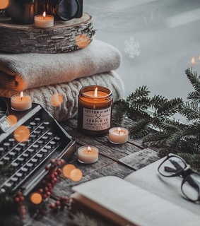 home, lights and candle