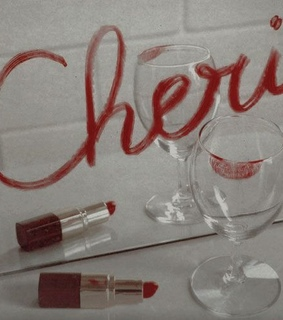 red, lipstick and dear