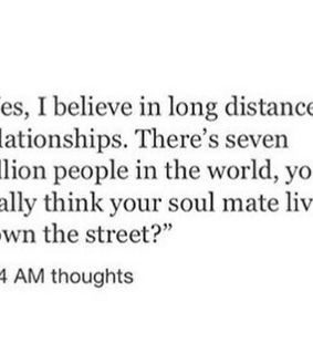 long distance, love and quotes