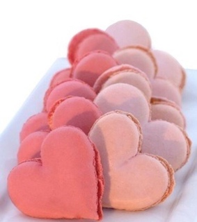 hearts, pink and pink icing