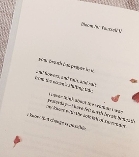 bloom for yourself, the woman i was and words