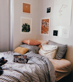 bedspread, aesthetic and bedroom