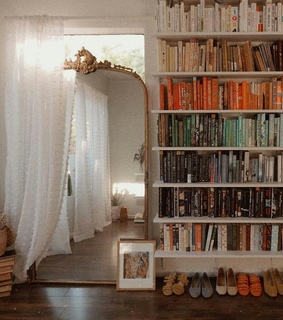 bookshelves, colors and decorating