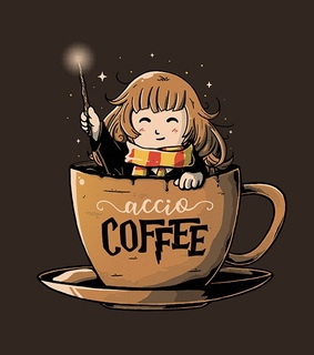 divertido, harry potter and coffee