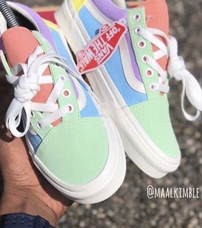 shoes, peach and pastel