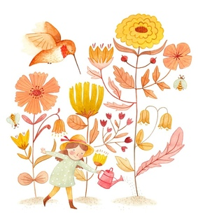 spring, illustration and flowers