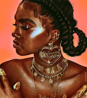 painting, melanin art and jewelry